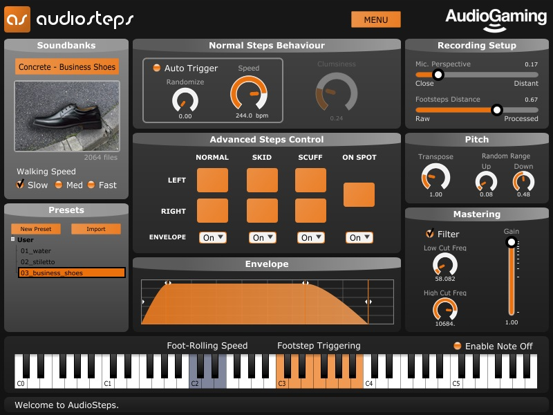 Audiosteps Screenshot 01